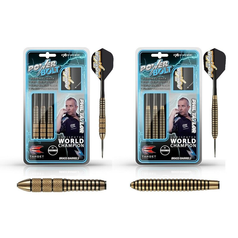 The Power Phil Taylor Steeldart Power Bolt Brass/Messing von Target